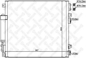 Радиатор кондиционера Stellox 10-45414-SX