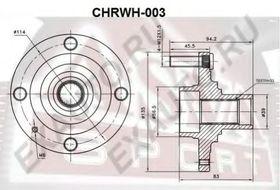 Ступица колеса Asva CHRWH-003