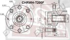Ступица колеса Asva CHRWH-T200F