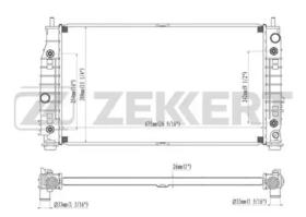 Радиатор охлаждения двигателя Zekkert MK1233