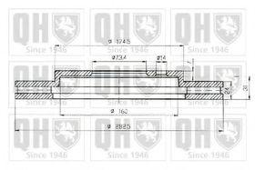 Тормозной диск Quinton Hazell BDC5145