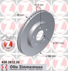 Тормозной диск Zimmermann 430.2612.20
