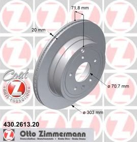 Тормозной диск Zimmermann 430.2613.20