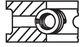 Комплект поршневых колец Mahle 009 36 N0