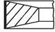 Комплект поршневых колец Mahle 011 85 N0