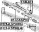 Наконечник рулевой тяги Febest 0121-KSP90RH