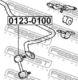 Стойка стабилизатора Febest 0123-0100