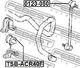 Стойка стабилизатора Febest 0123-050