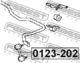 Стойка стабилизатора Febest 0123-202