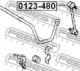 Стойка стабилизатора Febest 0123-480