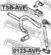 Стойка стабилизатора Febest 0123-AVF