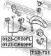 Стойка стабилизатора Febest 0123-CR50FR