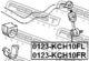 Стойка стабилизатора Febest 0123-KCH10FR