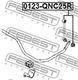 Стойка стабилизатора Febest 0123-QNC25R