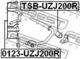 Стойка стабилизатора Febest 0123-UZJ200R