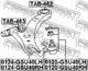 Рычаг подвески Febest 0124-GSU40RH