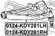 Рычаг подвески Febest 0124-KDY281RH