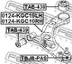Рычаг подвески Febest 0124-KGC10RH