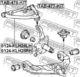 Рычаг подвески Febest 0124-KLH28RH