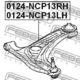 Рычаг подвески Febest 0124-NCP13LH