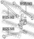 Рычаг подвески Febest 0125-142