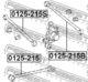 Рычаг подвески Febest 0125-215S