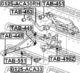 Рычаг подвески Febest 0125-ACA33