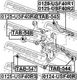 Рычаг подвески Febest 0125-USF40R2