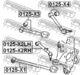 Рычаг подвески Febest 0125-X2LH