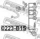 Стойка стабилизатора Febest 0223-B15