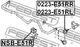 Стойка стабилизатора Febest 0223-E51RR
