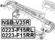 Стойка стабилизатора Febest 0223-F15RL для Nissan Juke
