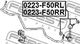 Стойка стабилизатора Febest 0223-F50RL для Nissan Cedric