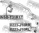 Стойка стабилизатора Febest 0223-J10RL