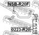 Стойка стабилизатора Febest 0223-R20