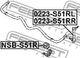 Стойка стабилизатора Febest 0223-S51RL