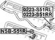 Стойка стабилизатора Febest 0223-S51RR