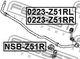 Стойка стабилизатора Febest 0223-Z51RR