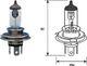 Лампа дальнего света Magneti Marelli 002555100000