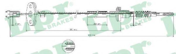 Купить Трос сцепления, LPR C0035C