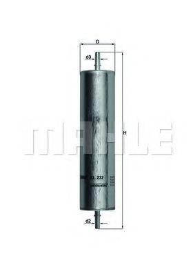 Топливный фильтр, Mahle KL232  - купить со скидкой