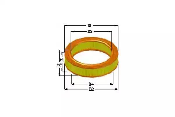 Купить Воздушный фильтр, Tecneco AR637