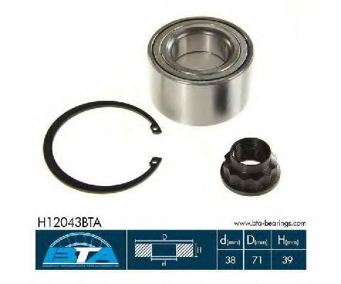 Купить Комплект ступицы колеса, BTA H12043BTA