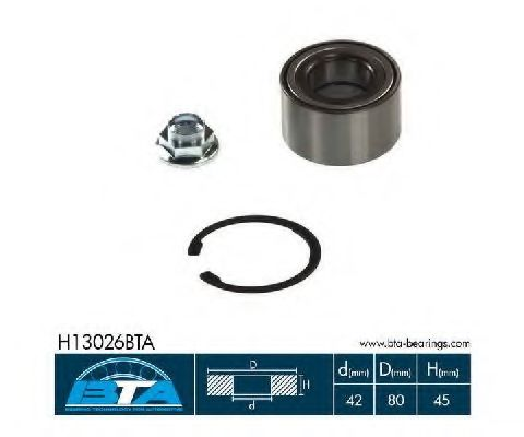 Комплект ступицы колеса, BTA H13026BTA  - купить со скидкой