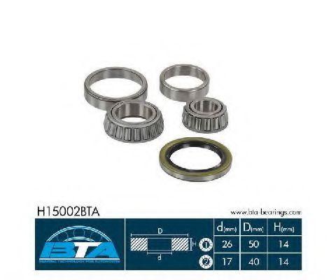 Купить Комплект ступицы колеса, BTA H15002BTA