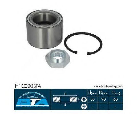 Купить Комплект ступицы колеса, BTA H1C020BTA
