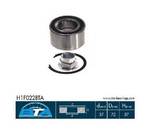 Купить Комплект ступицы колеса, BTA H1F022BTA