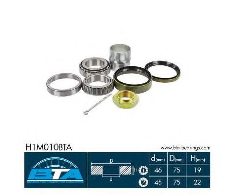 Купить Комплект ступицы колеса, BTA H1M010BTA