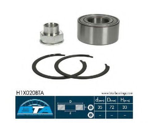 Купить Комплект ступицы колеса, BTA H1X020BTA