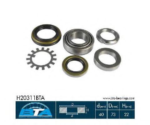 Купить Комплект ступицы колеса, BTA H20311BTA
